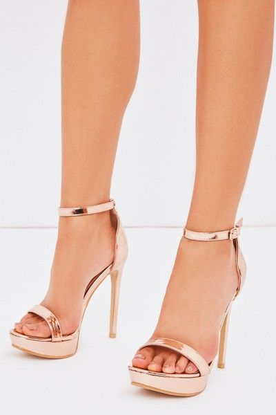 0966820f6a230 Katie Rose Gold Metallic Barely There High Heel | Shoes (Heels) | Shoes,  Heels, Shoe boots