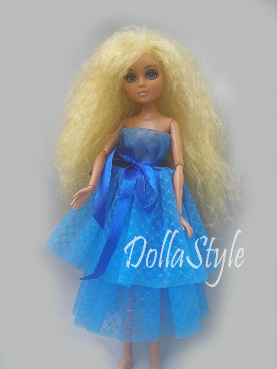 HandMade Moxie Teenz Clothes Doll Dress blue for by DollaStyle