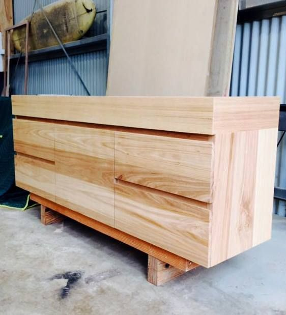 a glimpse into the recycled timber furniture and custom designs we are currently making in our torquay workshop hand made to order near melbourne by