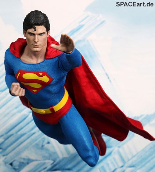 Superman: Superman (Christopher Reeve) | Deluxe-Figur (voll beweglich) | Hot Toys | https://spaceart.de/produkte/sm001.php