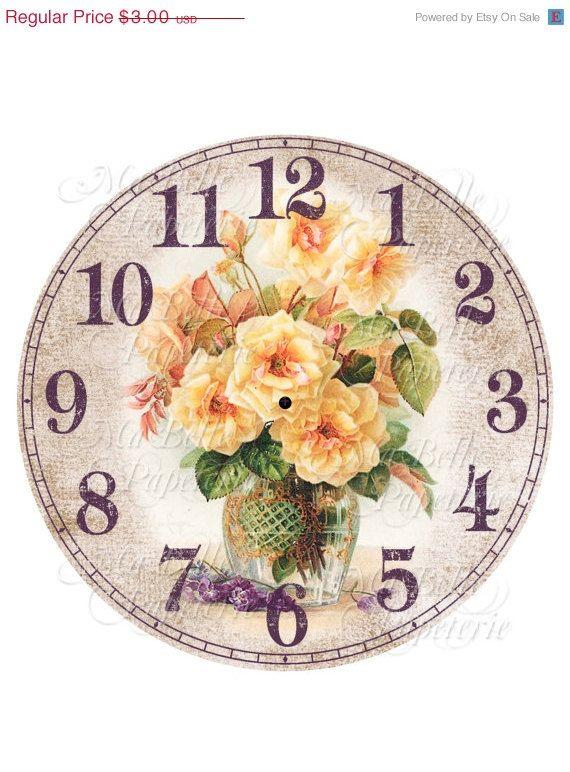 La mitad Precio De Venta-Reloj Reloj DIY estafadores la Imagen de las Rosas amarillas del vendimia
