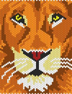 Lion bead pattern