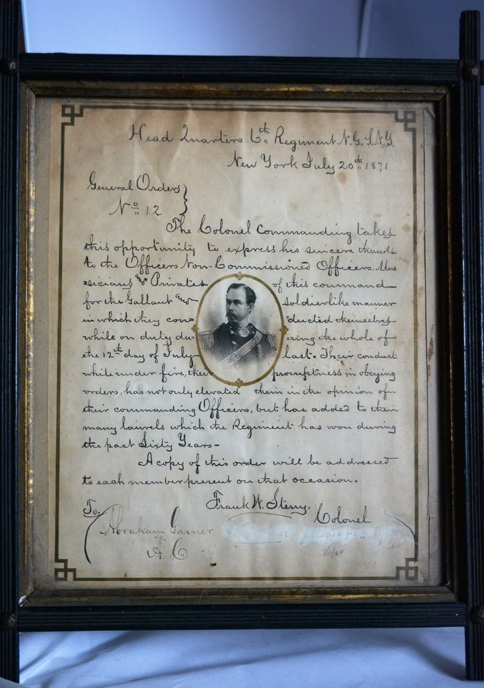 Military Letter Of Commendation Th Regiment Inidan War Period