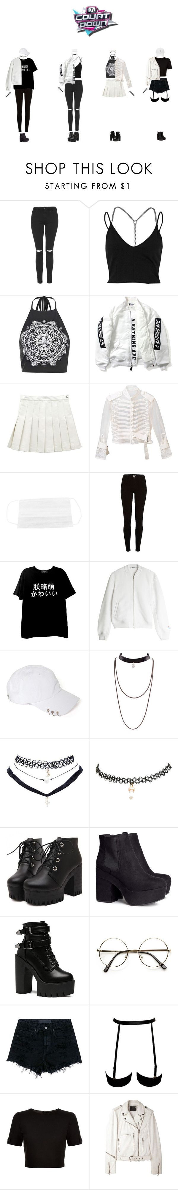 """""""[M!Count Down] Comeback SWIRL - KARMA"""" by swirlsquad1234 ❤ liked on Polyvore featuring Topshop, River Island, Boohoo, Sacai, T By Alexander Wang, Wet Seal, H&M, Audio-Technica, Alexander Wang and Ted Baker"""