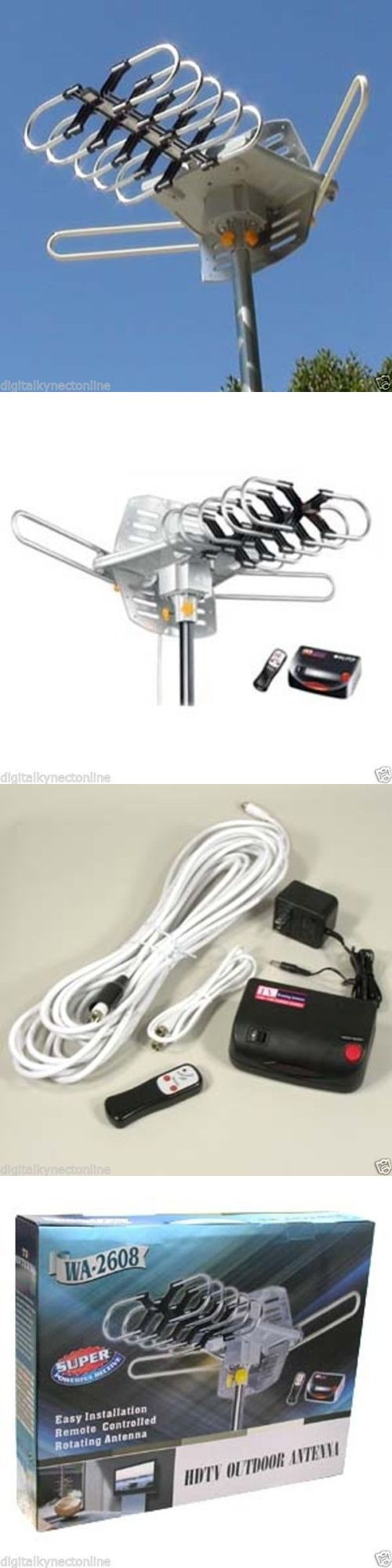 Antennas and Dishes: Noko Outdoor Hdtv Antenna With Motor Rotor, Wa2608 BUY IT NOW ONLY: $32.55