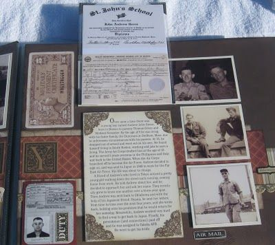 Annette's Creative Journey Album ~ Traditionally designed heritage page with pull-up flaps. Visit site for ideas on using #FlipFlaps.