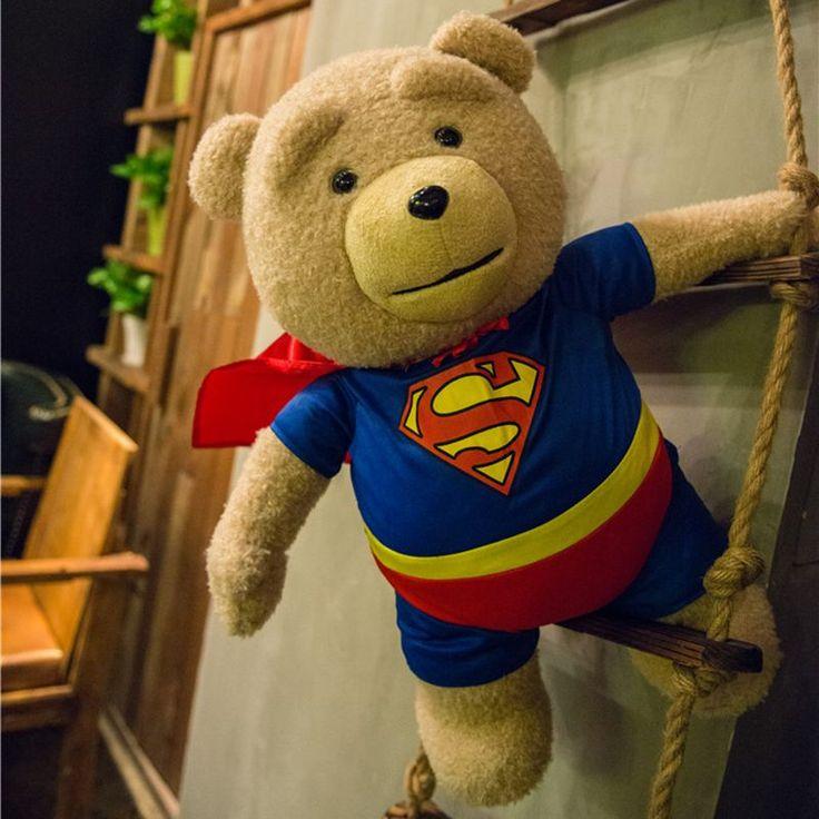 HOT 1PCS 60cm Talking Teddy Bear Ted 2 Plush Soft Dolls Man's Ted Bear Moving Mouth Stuffed Plush Toys Birthday/Christmas Gift #Affiliate