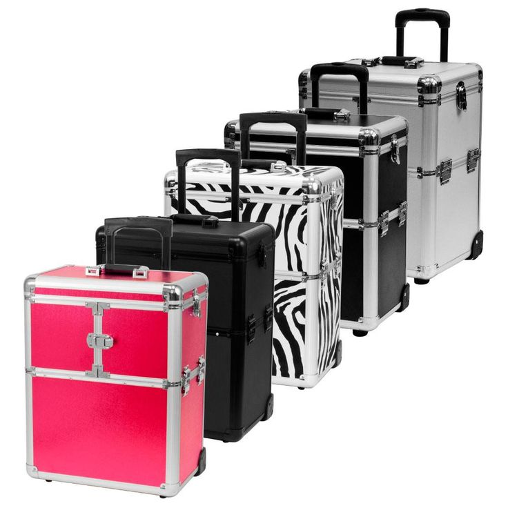 Choose Color Rolling Makeup Artist Travel Cosmetic Train Case