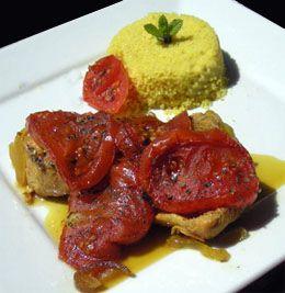 cuisine marocaine - Recette marocaine du tajine de poulet à la tomate caramélisée