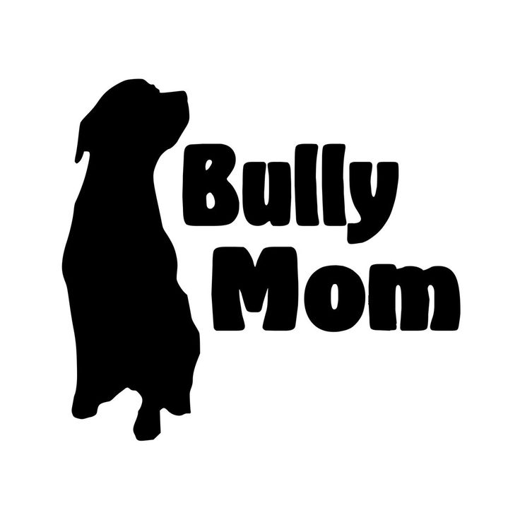 "Bully Mom American Pit Bull Staffordshire Terrier Vinyl Decal Sticker 5.5"" x 5"" by MinglewoodTrading on Etsy https://www.etsy.com/listing/169620843/bully-mom-american-pit-bull"