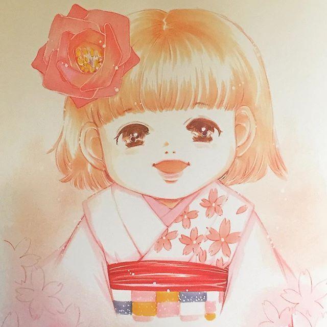 おはようございます☀ いろんな始まりの春 スタートはまずは笑顔で(^.^) #笑顔 #イラスト #illustration #女の子 #child #もと #もとp #コピックfukudamotoko2017/04/17 10:08:52