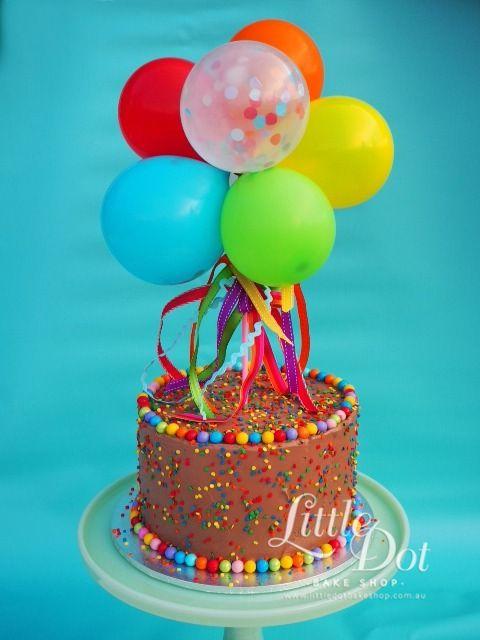 Balloon Cake Fun :) Made with love by Little Dot Bake Shop
