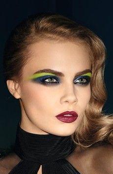 edgy, dark, gothic, green, black, blue, makeup, glamour, pretty, eyeshadow