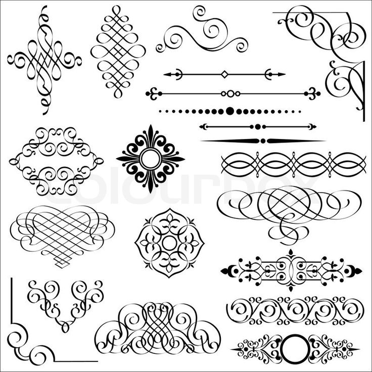 2702268-vector-set-of-calligraphic-design-elements.jpg (800×800)