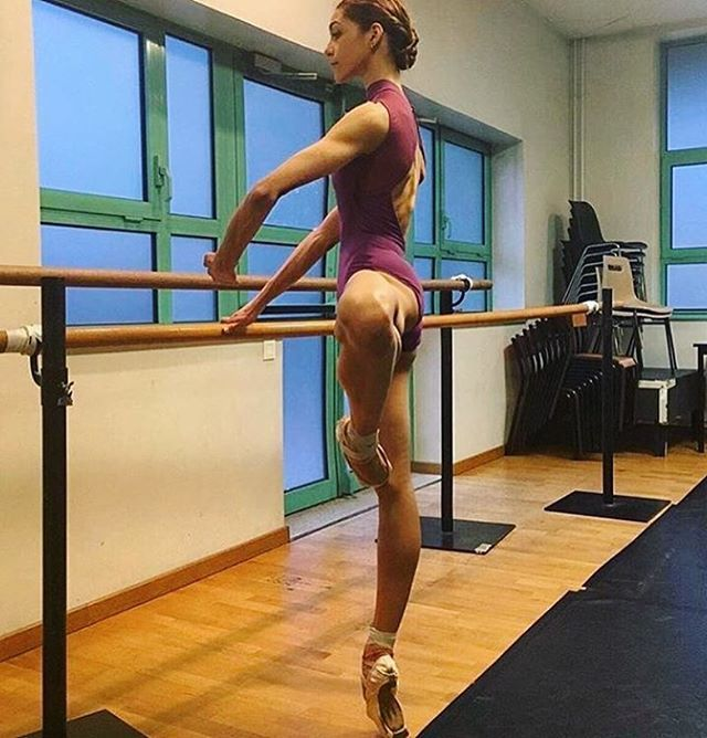 """Love love love this leotard on @marlen_fuerte_ by @taglia_basilica !!!! She is stunning!! If you would like to purchase something from @taglia_basilica use our special code """"Ballerinaspiration"""" for a discount"""