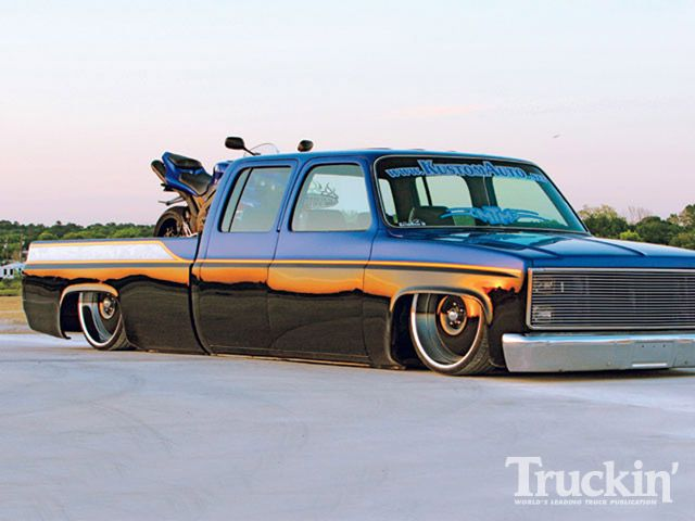 1986 Chevy C30 Crew Cab - 24 Inch Centerline Rims - Truckin' Magazine