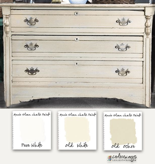 Colorways with Leslie Stocker » A Believable White. Annie Sloan Chalk Paint®. Pure White. Old White. Old Ochre.