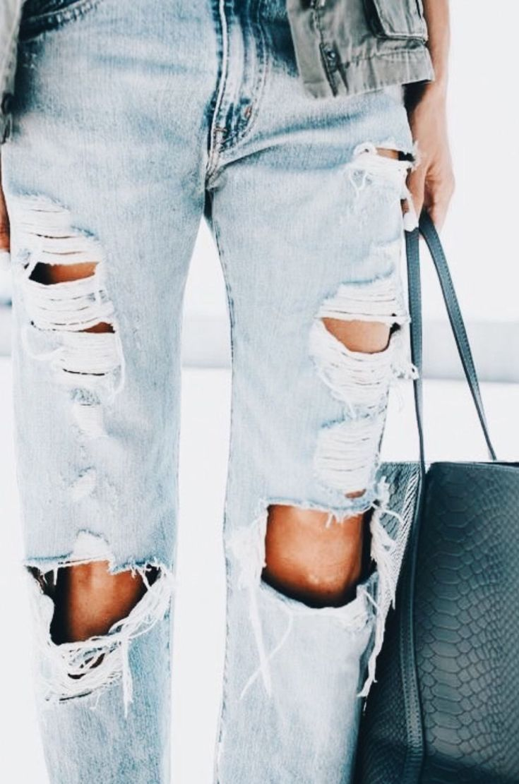 the perfect light washed, distressed denim