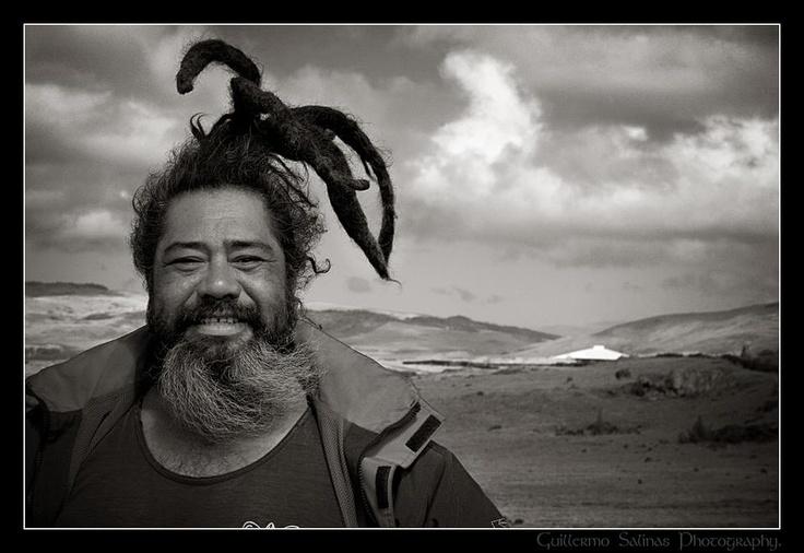 Gente Rapanui de la Isla de Pascua