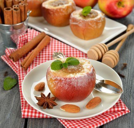 Pieczone jabłka z miodem