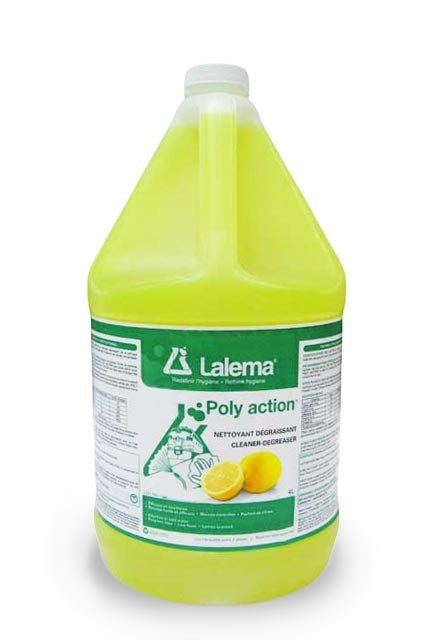Multi-Purpose Cleaner Degreaser POLY ACTION: Lemon scented multi-purpose degreaser