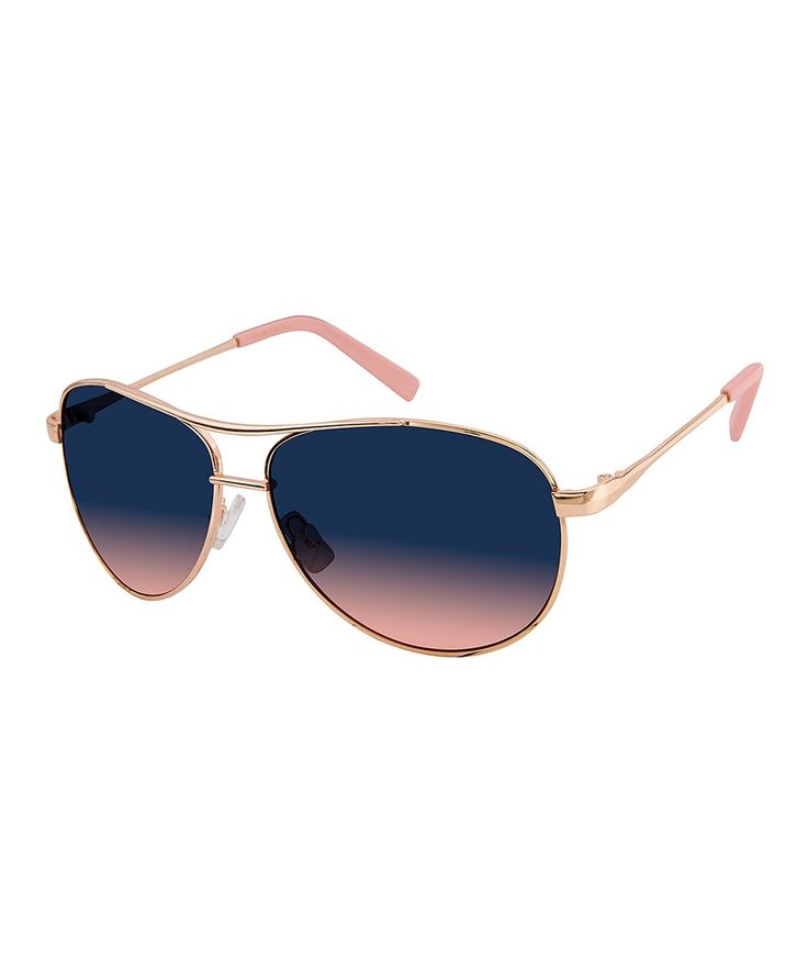Take a look at this Rose Gold Aviator Sunglasses today!