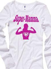 T-shirt Donna Soft Style Gildan con grafica Super mamma