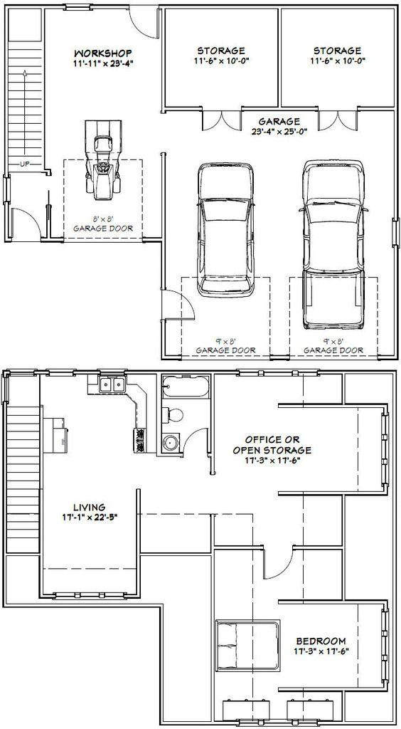 Car Garage Excellent Floor Plans Apartment