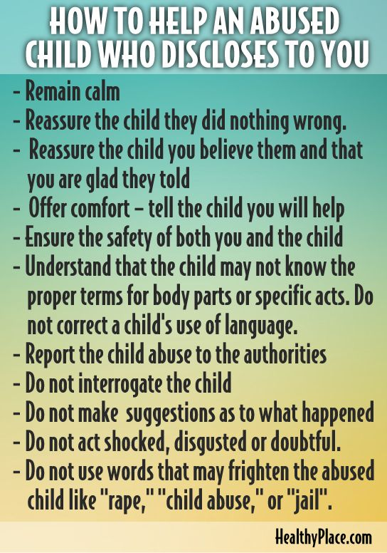 """An abused child needs help as soon as possible. Learn how to help an abused child plus available help for child abuse victims."" www.HealthyPlace.com"
