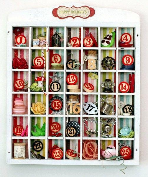 Advent calendar by Leeann Pierce.Christmas Diy, Advent Calender, Christmas Advent, Calendar Ideas, Advent Calendar, Adventcalendar, Christmas Decor, Christmas Ideas, Advent Holiday