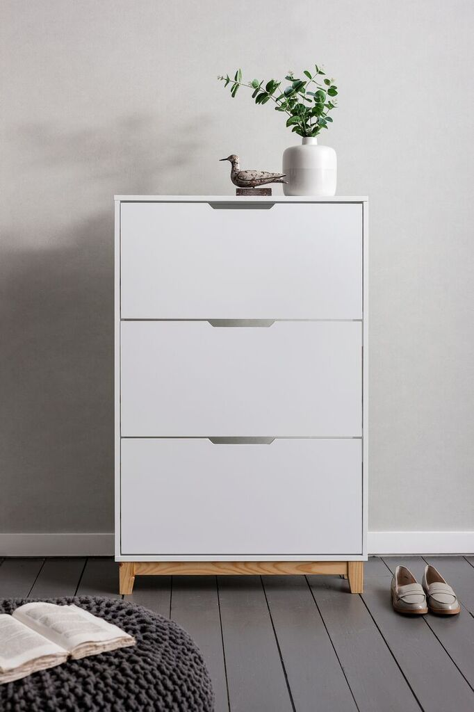 Noa And Nani Oslo Shoe Storage Unit In White Shoe Cabinet | £99.99 | #