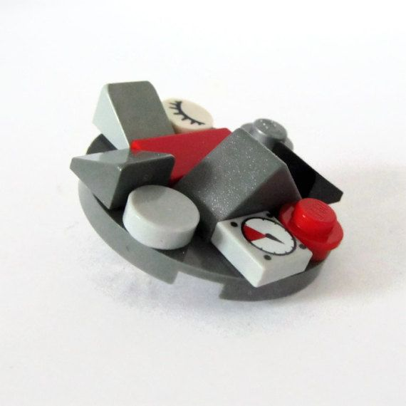 Cheap Pin-Chic Brooch-From LEGO® Bricks-Geeky by ThinkBricks