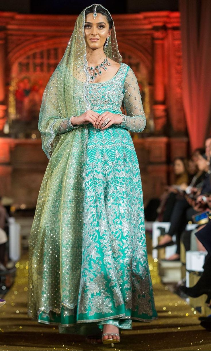 102 best TURQOISE images on Pinterest | Bridal gowns, Indian dresses ...