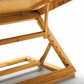 Klappbares Tischpult Erlenholz: Als Vorlagenhalter, Schreib- und Lesepult fast überall zu verwenden. Gut zu verstauen und leicht  transportierbar