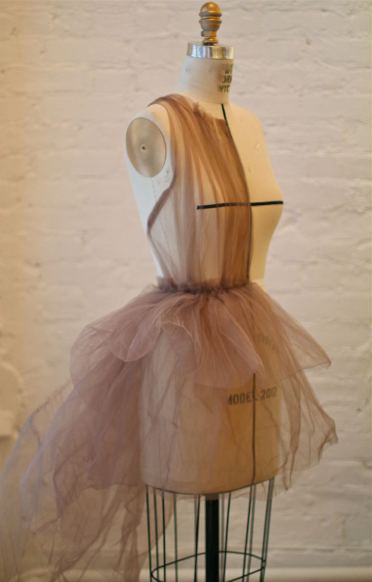 drape of a dress. experimenting with tulle.                                                                                                                                                                                 More