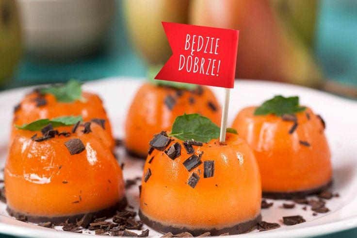 #Galaretka pomarańczowa z gruszką i czekoladą #gruszka #czekolada #pomarańcza #gelly #sweet #deser #galaretki #sweets