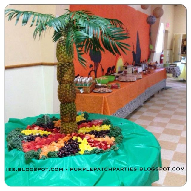Disneyu0027s Lion King Baby Shower Party Pineapple Palm Tree