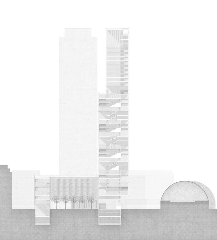 """""""European Skyscraper II """"  Alexanderplatz, Berlin  Marle Freitag , Eva Roesler"""