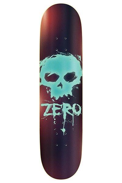 R7 Blood Skull Carbon Copy skateboard deck by Zero.