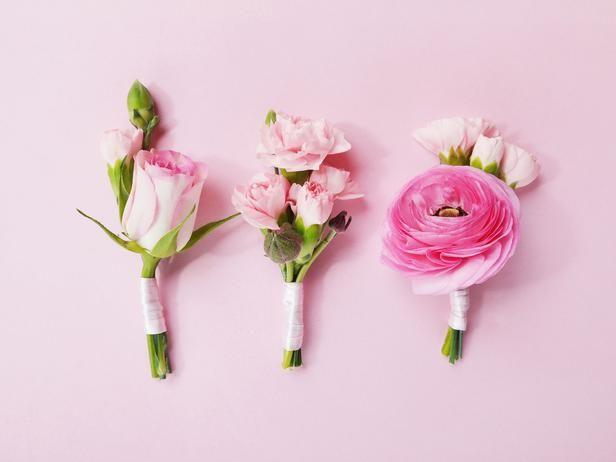 Romantic DIY Wedding Ideas : Decorating : Home & Garden Television by Bird's Party #weddings #floraldesign #groom #boutonnieres