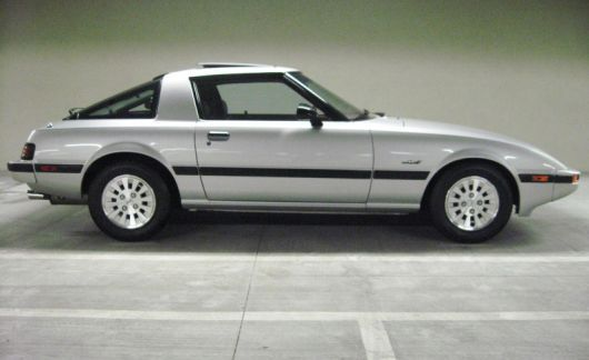 1984 Mazda RX-7 GSL SE in black. The first new car I ever bought. So cool it was stolen twice. Got it back the first time but not the second.