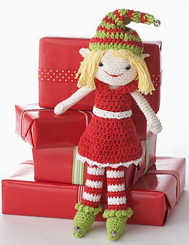 red dress for LilyChristmas Crochet, Christmas Crafts, Free Pattern, Christmas Elf, Elf Pattern, Crochet Christmas, Knits Pattern, Crochet Patterns, Elves