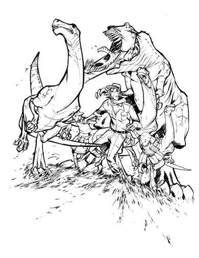 Jurassic Park 4 Coloring Pages