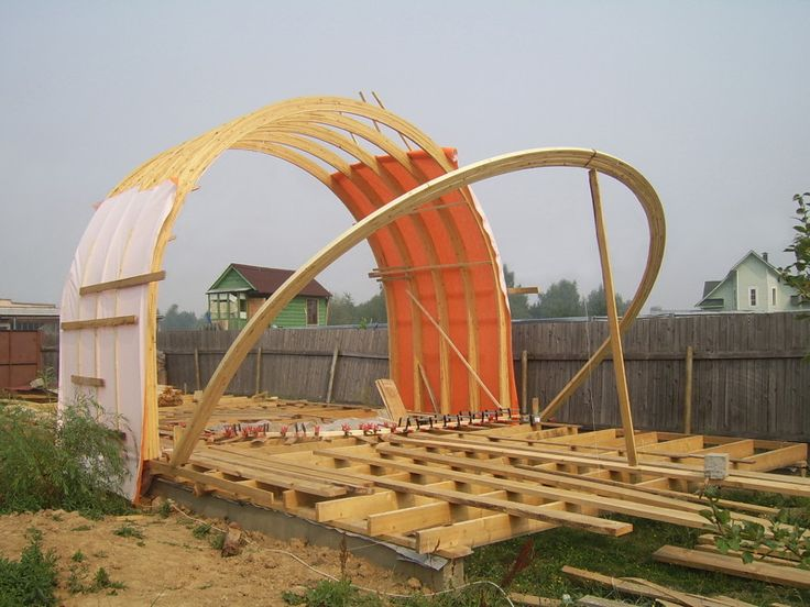 how to build a wooden quonset hut