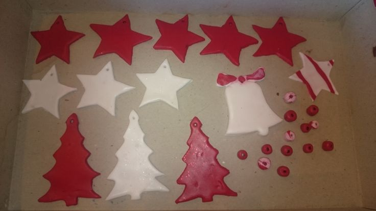 Decorations for the Christmas tree made by clay then decorated with glitter. Conducted the weeks before Christmas in a clinical setting