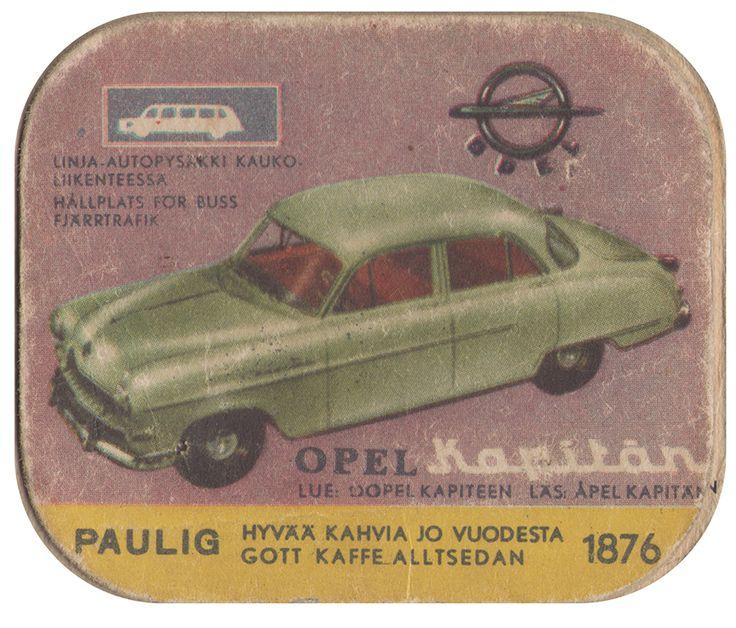 En nostalgitripp fram till jul med hjälp av Pauligs bilkort från mitten av 1900-talet. Opel Kapitän #cars #vintage
