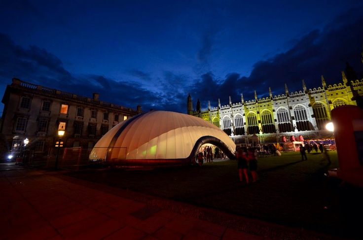 Inflatable structure, event cover, music event, sound and light. www.evolutiondome.co.uk