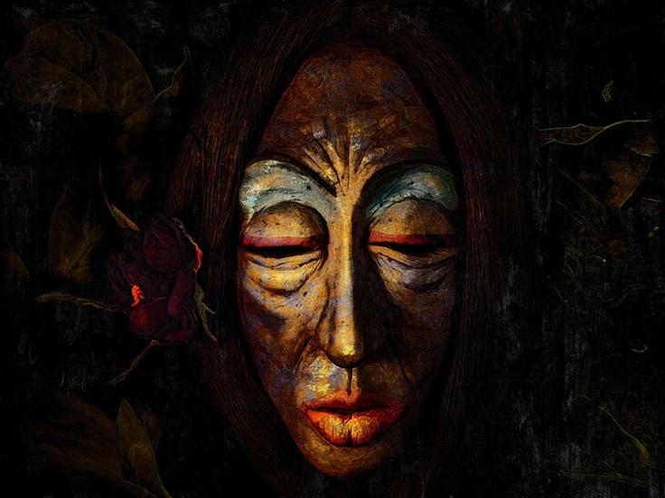 Hechicera.  30x40 cm.  Escultura, fotografía y edición digital.