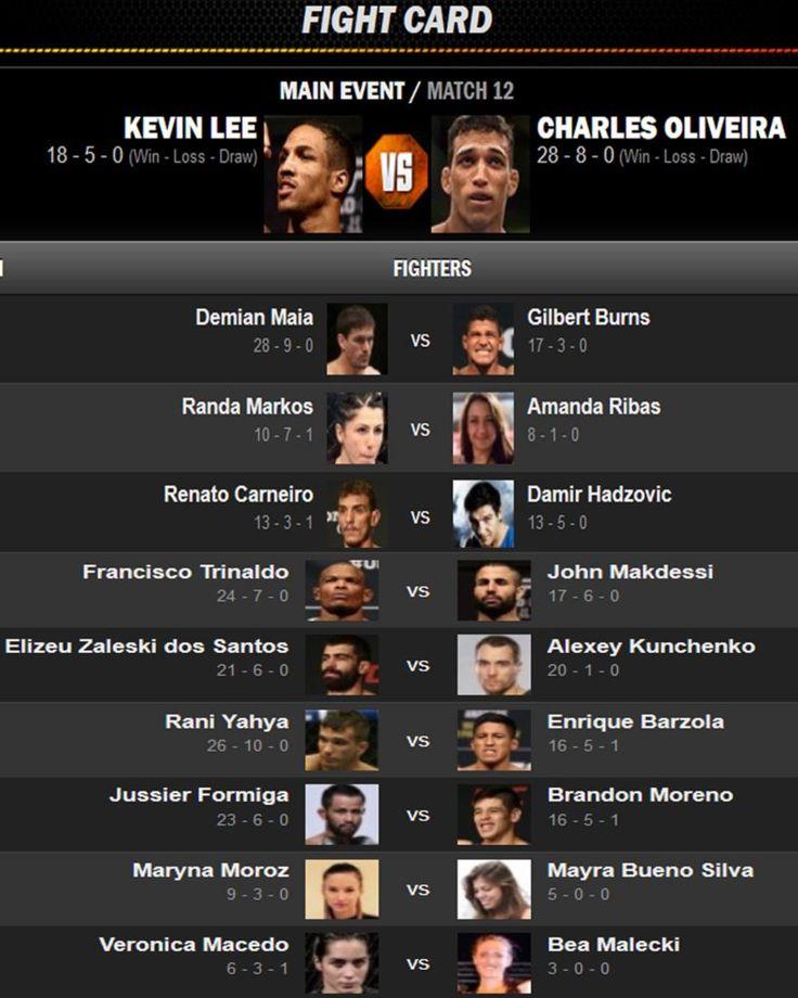 Watch Lee vs Oliveira Live Stream UFC fight night Free
