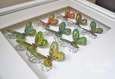This Watercolor Wings home decor artwork is easy to make and can be adapted to any colour scheme! - Vicky Hayes